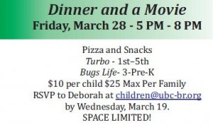 Dinner and Movie March 28